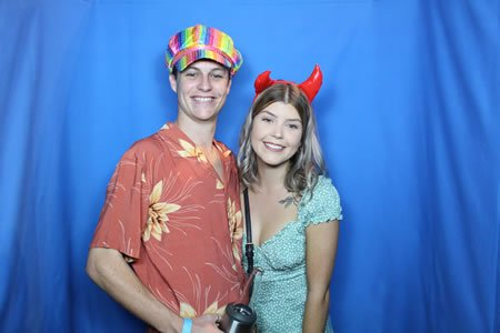 Blue Backdrop - Photo Booth Hire