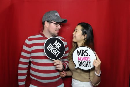 Red Backdrop - Premium Enclosed Photo Booth Hire