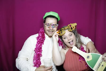Purple Backdrop - Premium Enclosed Photo Booth Hire