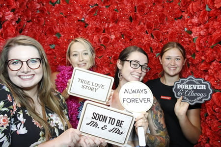 Red Rose Flower Wall - Photo Booth Hire