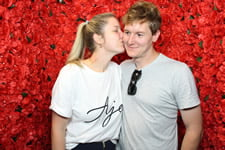 Pine Rivers Wedding Expo - Rustic Photo Booth - Red Rose Background