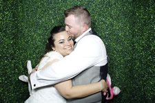 Toni and Carl Sandstone Point Hotel Wedding Photo Booth