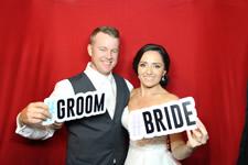 Kadie and Nick wedding photo booth Sunshine Beach SLSC