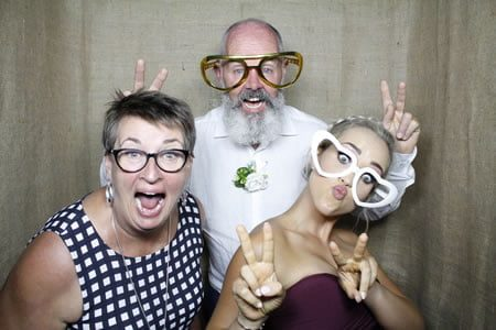 Hessian Background - Photo Booth Hire