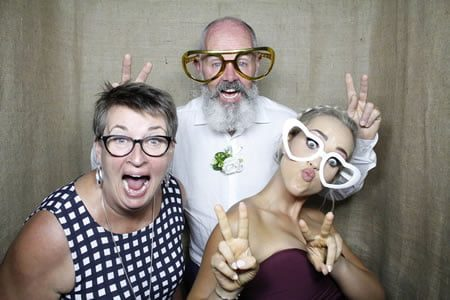 Hessian Backdrop -Premium Enclosed Photo Booth Hire