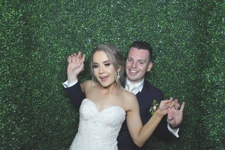 Greenery Background - Photo Booth Hire