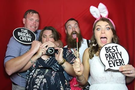 Party Starts when Curtin Closes - Photo Booth Hire