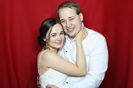 Red Background - Photo Booth Hire