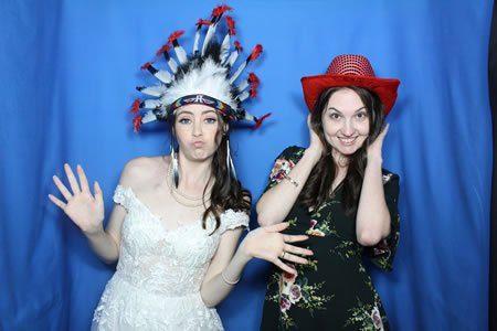 Bridal Fun Times - Blue Backdrop - Photo Booth Hire