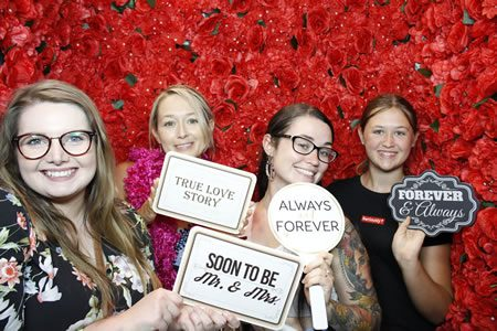Red Rose Flower Wall - Premium Enclosed Photo Booth Hire